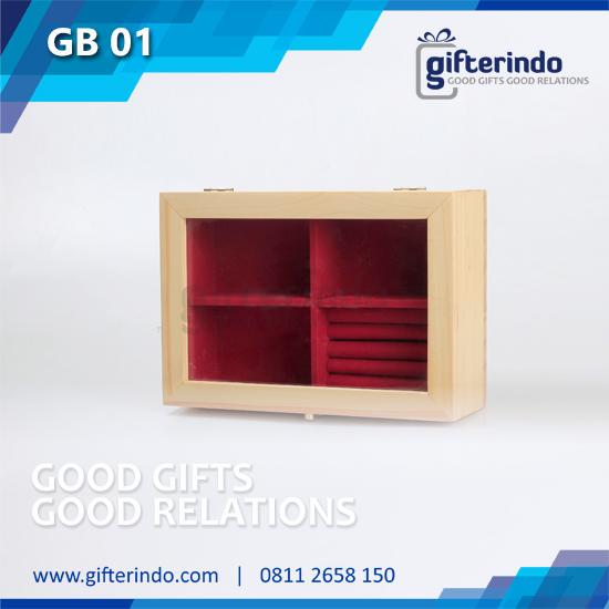 Gift Box Kombinasi Kayu