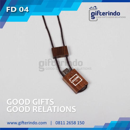 Flashdisk Kayu kalung Custom