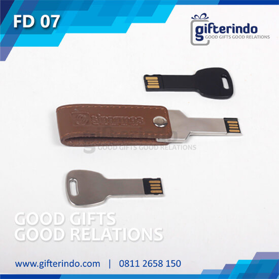 Flashdisk Kunci Metal Kulit custom
