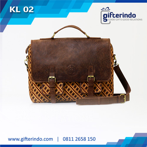 Tas Kulit Laptop Custom