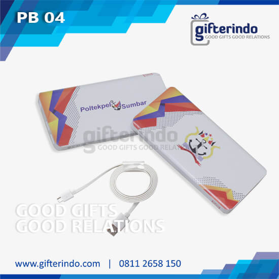 Power Bank Custom – putih android Poltekpel Sumbar